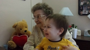 Grandma J with Colin