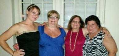 Me with three of my sisters-in-law